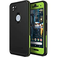 Lifeproof FRE Series Waterproof Case for Google Pixel 2 - Non-Retail Packaging - Night Lite (Black/Lime)