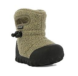 Bogs Baby B-MOC Fleece Winter Snow Boot (Toddler),  Cocoa, 6 M US Toddler