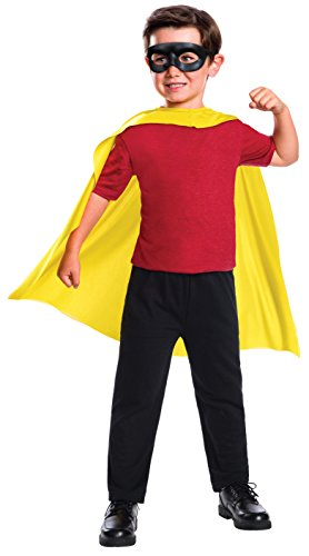 Rubie's Costume Boys DC Comics Robin Cape & Mask Set Costume, One Size]()