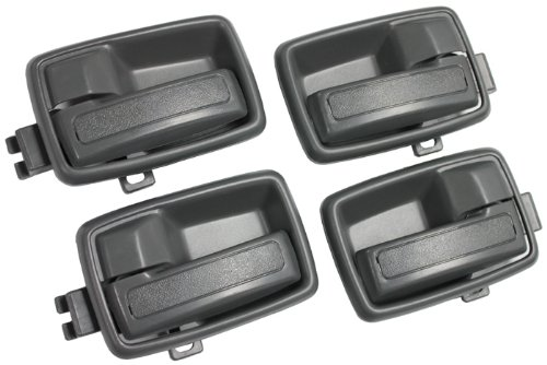 LatchWell PRO-4001568 4-piece Interior Door Handle Set in Medium Gray for Isuzu Pickup Truck & SUVs & Honda Passport