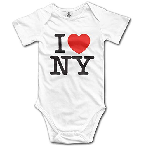 (MAON I Love New York Baby's Onesie Unisex Short Sleeve Comfortable Bodysuit Outfits)