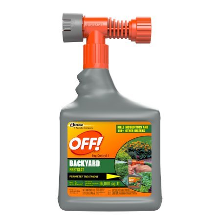 Bug Control Backyard Pretreat 32 Ounces set of 2 (Lentek Mosquito Trap Propane Tank)