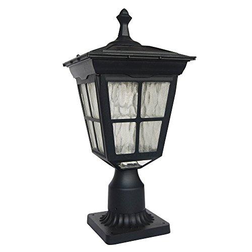 Outdoor Lamp Post Amazon: Kemeco ST4311AQ 6 LED Cast Aluminum Solar Post Light