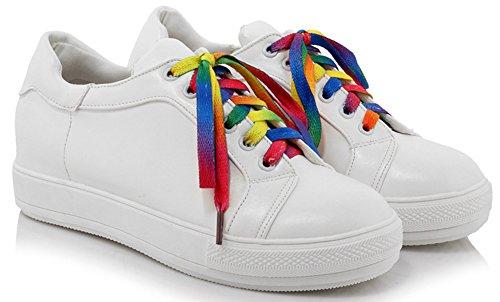Rond Aisun Baskets Tennis Multicolores Bout Basse Lacets Femme Décontracté wxqTxO4g