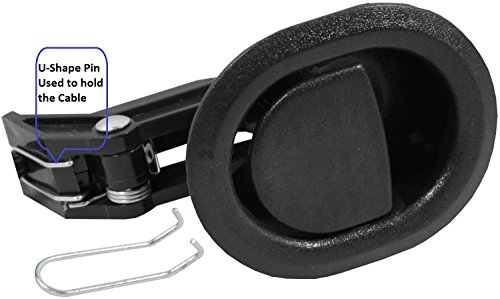Recliner Replacement Parts @ Small Oval Black Plastic Pull Recliner Handle, Flapper Style, Package With Our Own Designed Bag with Eric & Leon Logo (BLACK)