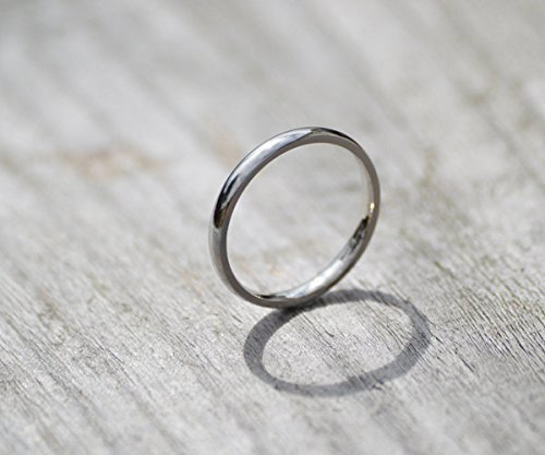 Platinum Wedding Band, Platinum Wedding Ring, 2mm Wide or 3mm Wide -