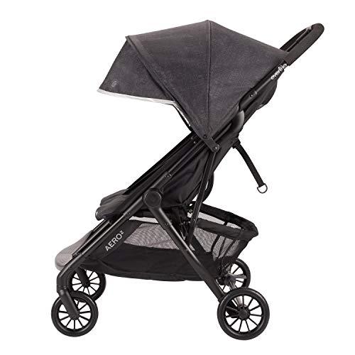 41YFwmaiGwL - Evenflo Aero2 Ultra-Lightweight Double Strollers, Compact, Self-Standing Folding Design, Shopping Basket Single-Child Mode, Seatback Storage Pocket, 2 Mesh In-Seat Pockets, 50-lb Per Seat, Osprey Gray