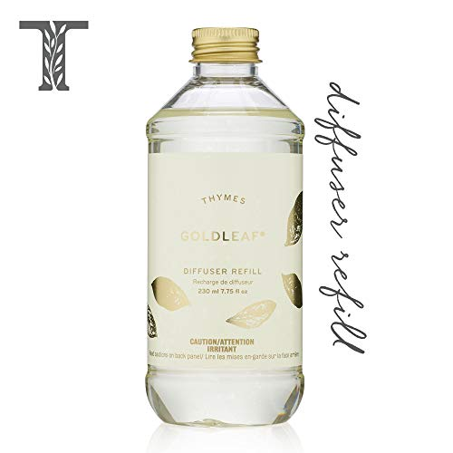 Thymes Goldleaf Aromatic Diffuser Oil Refill - Large Bottle with Elegant Floral Scent - 7.75 oz