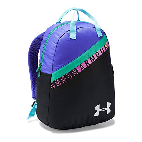 Under Armour Girls' Favorite Backpack 3.0, Black (001)/Green Typhoon, One Size ()