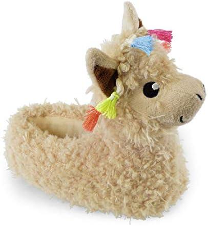 Childrens Cosy Novelty Llama Slippers