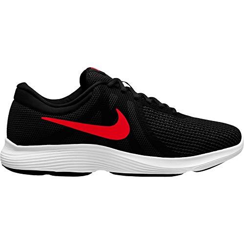 NIKE Men's Revolution 4 Sneaker, Black/University red - Oil Grey, 7.5 Regular US by NIKE