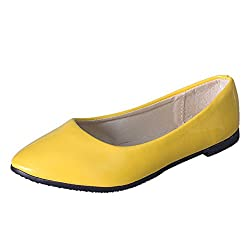 Opinionated Women S Flat Bottomed Ballet Pointed Casual Flat Non Slip Sandals Office Shoes Yellow