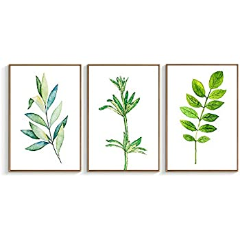 NWT Framed Canvas Wall Art for Living Room, Bedroom Beautiful Leaves Canvas Prints for Home Decoration Ready to Hanging - 16