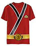 Power Rangers SAMURAI Ranger RED Uniform Monster Toddler T-shirt (Toddler Medium 5/6T)