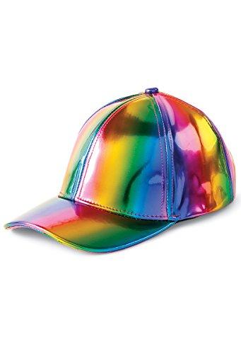 Balera Rainbow Metallic Baseball Cap Dance Costume Accessory
