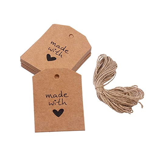 Party Diy Decorations - 100pcs Vintage Kraft Paper Handmade With Love Wedding Festival Baking Diy Hanging Gift Tags - Decorations Party Party Decorations Kraft Label Paper Jewelry Card Produ]()