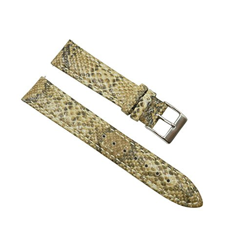 (Python Exotic Tan Leather 16mm Replacement Watch Strap)