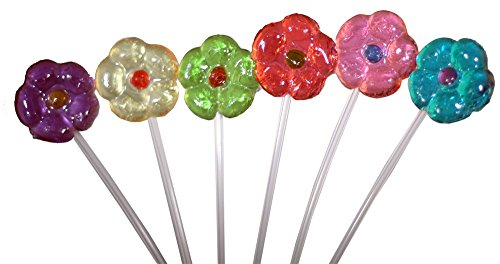 Daisy Flower Fancy Pops Assorted 6 Flavors - 25CT.
