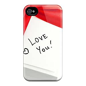 Hot Tpu Cover Case For Iphone/ 4/4s Case Cover Skin - Love Message