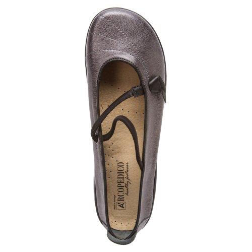 Jane On Arcopedico Mary Flats Womens Slip Pewter Shoe Vitoria EPCqCwX4