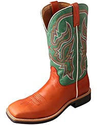 Twisted X Womens Neon Green Top Hand Cowgirl Boot Square Toe - Wth0007