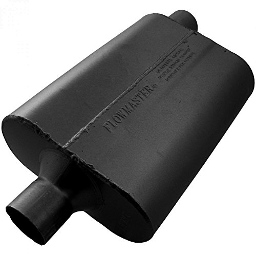Flowmaster 942442 40 Delta Flow Muffler - 2.25 Center IN / 2.25 Offset OUT - Aggressive (Jeep Wrangler Exhaust System)