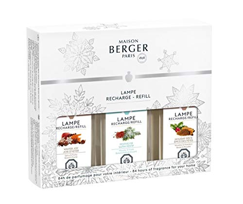 Lampe Berger - 3-Pack: Winter Joy, Festive Fir and Holiday Spice 180ml