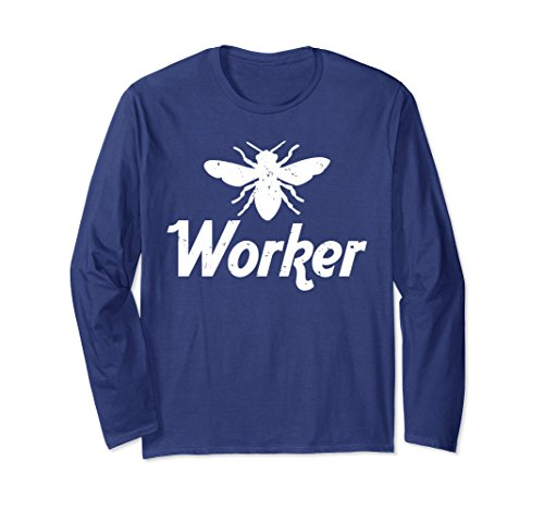 A Bug's Life Costume Ideas (Unisex WORKER BEE Funny Bug Lover Beekeeper Funny Costume Shirt 2XL Navy)