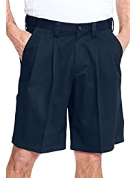 Men's Big & Tall Classic Fit Wrinkle Free Expandable Waist Pleat Front