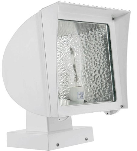 RAB FXH125XPSQWPC2 with PC2 Flexflood 125W-Metal Halide HPF Pulse Start Wall Mount + 277V with Photocell, White