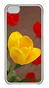 iPhone 5C Case, Personalized Custom Tulips 8 for iPhone 5C PC Clear Case