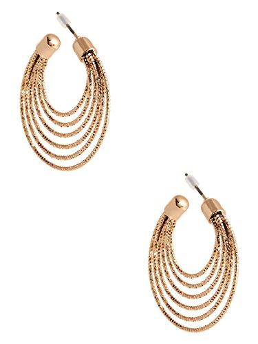 Guess Womens Earring - GUESS Factory Women's Gold-Tone Layered Hoop Earrings
