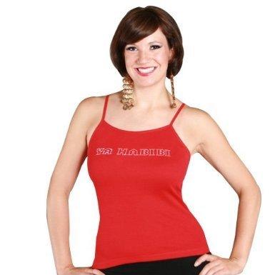 Logo Belly Dance (Ya Habibi Logo Tank Top (Small, Turquoise))