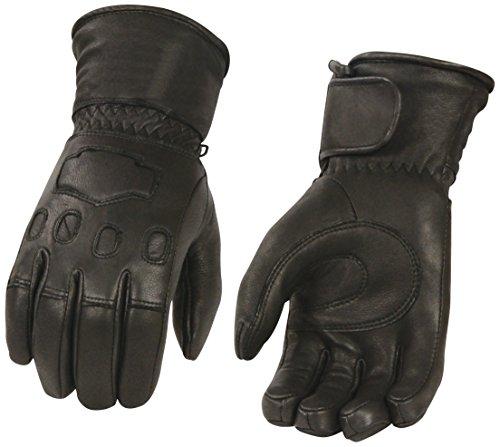 Shaf International Men's Deer Skin Gauntlet Gloves with Thinsulate Lining (Black, X-Large)