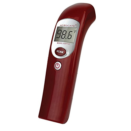 Advocate Infrared Thermometer Best Digital Talking Non Contact Digital Baby Forehead Medical Thermometer Multi Function Uses Approved IR Laser No Touch Technology by Advocate