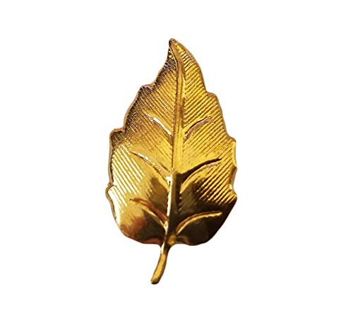 (Gold Tone Metal Tiny Leaf Leaves Craft Accents Jewelry Findings (Pack of 12))