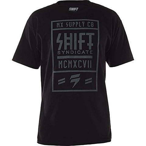 Shift Racing Mens MX Supply Short-Sleeve Shirt Medium Black (Fox Mx Shirts)