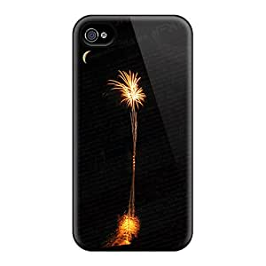 Durable Defender Case For Iphone 4/4s Tpu Cover(july 4th Sc Style)