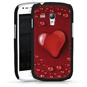 Carcasa Design Funda para Samsung Galaxy S3 Mini I8190 HardCase black - Heart Drop