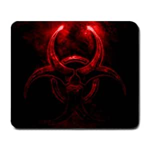 Glowing Effect Red Biohazard Mouse Pad