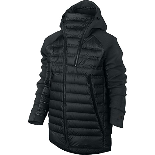 Men's Nike Sportswear Tech Fleece Aeroloft Down Jacket (Large, Seaweed/Black)