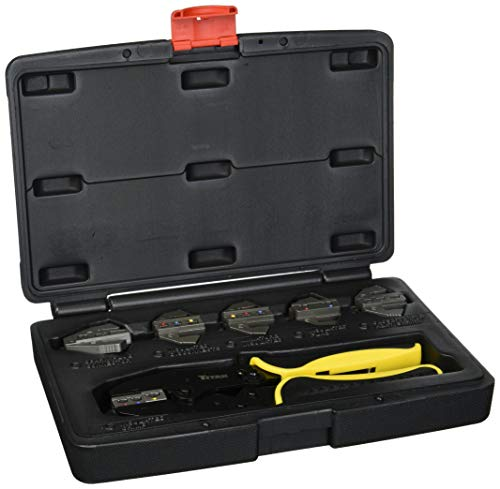 Titan Tools 11950 Ratcheting Wire Terminal Crimping Set, 7-Piece