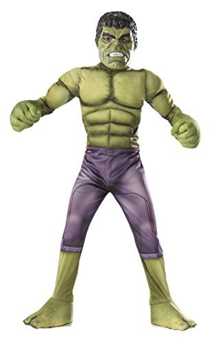 Avengers Hulk Medium Halloween Costume, Green, Ages 5-7 (Us Kids' Size 8-10)