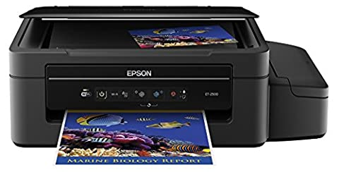 Epson Expression ET-2500 EcoTank Wireless Color All-in-One Supertank Printer with Scanner, Wi-Fi, Tablet and Smartphone (iPad, iPhone, Android) Printing, Easily Refillable Ink (Epson L220)