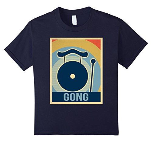 Kids Vintage Gong Shirt 12 Navy