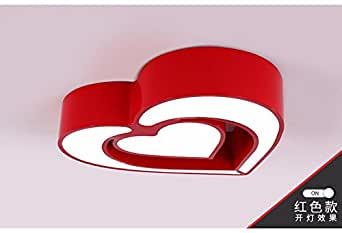 Cttsb Color Clouds personality led bedroom lights children lights boys girls decorated kindergarten cartoon room ceiling lamps,50cm,red heart