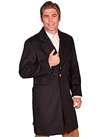 Men's Steampunk Jackets, Coats & Suits Old West Wool Blend Frock Coat  AT vintagedancer.com