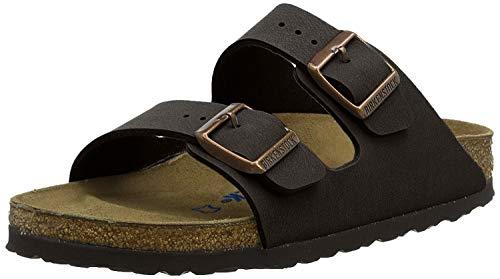 Birkenstock Unisex Arizona Brown Amalfi Leather Sandals - 41 M covid 19 (Smooth Leather Footwear coronavirus)