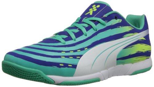 PUMA Men's Trovan Lite Soccer Shoe,Spectrum Blue/White/Electric Green,10 M US (Spectrum Rubber Football)