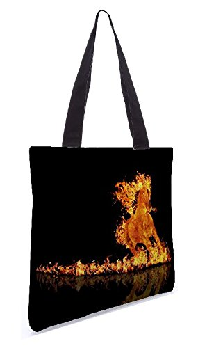 Snoogg Raging Horses 13.5 X 15 Pollici Shopping Bag Tote Realizzata In Tela Di Poliestere